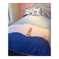 �棉�和�床上用品四件套全棉被套男孩床��1.2米床三件套1.5m1.8米