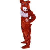 卡其色圣诞节宝宝表演服装连休 儿童演出服女 跳舞蹈衣小熊动物造型套装
