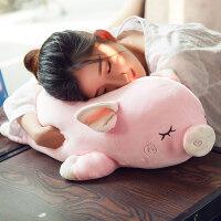 大号猪公仔毛绒玩具可爱趴趴猪玩偶女孩睡觉抱枕布娃娃萌韩国女生