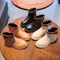 女童靴子秋冬二棉�和��R丁靴英���L男童短靴公主靴