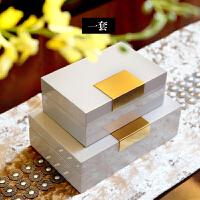 欧式创意家居首饰盒公主韩国现代简约卧室梳妆台收纳盒装饰品摆件