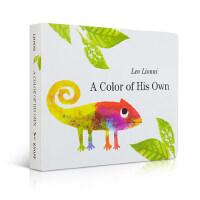 顺丰包邮 A Color of His Own 自己的颜色 四度凯迪克奖得主Leo lionni 李欧・李奥尼经典绘本