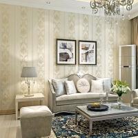 欧式条纹壁纸3D立体简约现代无纺布墙纸客厅卧室餐厅电视背景墙纸 仅墙纸