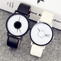 韩版简约休闲时尚潮流防水原宿男女中学生创意手表男个性概念手表