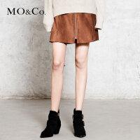 MOCOa字裙高腰半身裙短裙包臀裙时尚MA173SKT119  摩安珂
