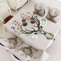 长方形餐桌布椅垫套装椅子套罩圆桌台布茶几布艺防水桌椅套