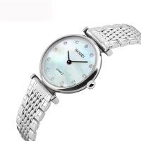 丽商务时尚女性腕表防水钢带女表简约精致带钻女士石英腕表