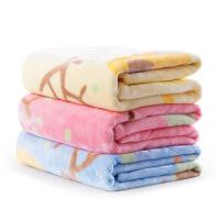 春夏婴儿毛毯四季新生儿法兰绒毯子盖毯宝宝儿童毯 y6q