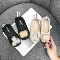 女童鞋子儿童黑色小皮鞋豆豆鞋宝宝单鞋