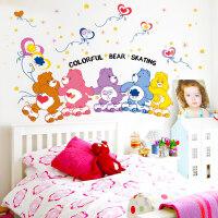 卡通儿童房幼儿园宝宝测量身高贴纸卧室装饰墙贴画墙纸自粘可移除 特大