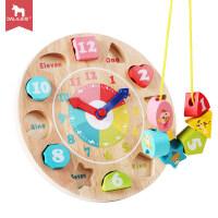 男孩宝宝玩具1-3岁男孩女字母形状认知时钟配对1-2周岁婴儿童积木 早教益智玩具兼容乐高