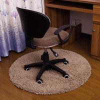 电脑椅地垫卧室家用电脑椅卧室垫子转椅地垫圆形地垫可机洗T