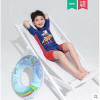 儿童泳衣男童男孩中大童可爱印花分体短袖休闲速干6-12青少年游泳