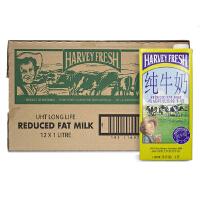[当当自营]澳大利亚进口 哈威鲜 (HARVERY FRESH)牛奶 低脂纯牛奶 1L*12盒 整箱装
