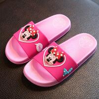 迪士尼儿童拖鞋夏季浴室拖鞋女居家洗澡拖鞋情侣凉拖鞋男亲子拖鞋