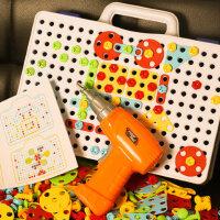儿童工具箱玩具套装男孩过家家仿真维修电钻修理箱6宝宝拧螺丝4岁