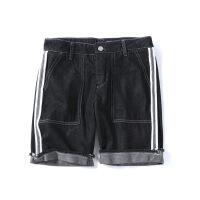 夏季牛仔短裤男港风潮流学生毛边休闲裤直筒百搭小清新韩版五分裤