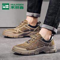木林森秋季新品韩版低帮潮流时尚复古板鞋男士休闲鞋男鞋