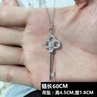 韩国S925银皇冠太阳花钥匙项链毛衣链长款吊坠女短款锁骨链饰品