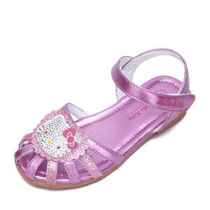HELLO KITTY童鞋女童公主凉鞋夏季新款儿童沙滩鞋包头凉鞋