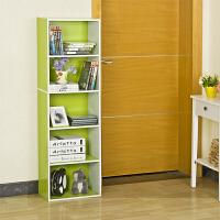 【当当自营】阿栗坞 五层收纳柜 储物柜 柜子 书柜书架 置物柜 绿色+白色 1003-1