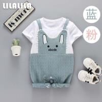 婴儿衣服夏季哈衣0-1岁男女宝宝外出爬服薄款连体衣