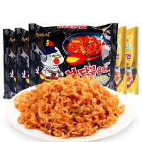 韩国进口食品三养超辣+芝士火鸡面两味140g*5袋 速食泡面煮面包邮