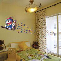 宜美贴 万圣节机器猫魔法师 儿童房卧室卡通装饰壁纸背景墙贴纸