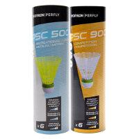 户外运动羽毛球6只装防风耐打耐用稳定室外塑料球翼软木球托