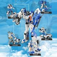 男孩变形金刚合金合体模型机器人汽车人摩托警车飞机儿童玩具