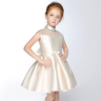 儿童礼服女 女童公主连衣裙钢琴演出服夏 浅 紫色