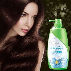HIGO清爽顺滑养护洗发水去屑止痒控油洗发露650ml