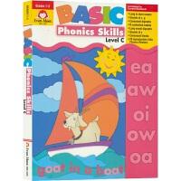 【首页抢券300-100】Evan-Moor Basic Phonics Skills Level C 基础练习 自然拼