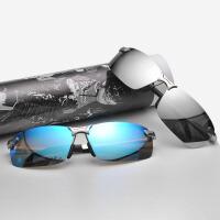 萌味 墨镜 男士夏季新款潮太阳镜时尚户外防晒用品偏光眼镜镜子开车司机驾驶镜方形眼镜