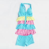 新款保守泳衣 分体遮肚裙式温泉泳衣少女小胸蛋糕裙学生游泳衣舒适可爱 均码