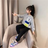 女童套装中大童儿童春装运动休闲两件套