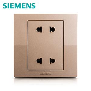 西门子开关开关面板西门子悦动系列香槟金色10A四孔二二电源插座