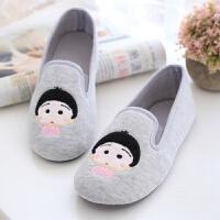 月子鞋 春秋产后软底家居包跟冬季棉拖鞋孕产妇坐月子鞋防水防滑 灰色 薄款较宽松