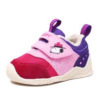 史努比童鞋宝宝学步鞋冬季新款加绒保暖男童女童机能鞋