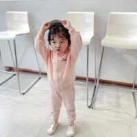 女童休闲套装儿童长袖裤子两件套女宝宝运动童装