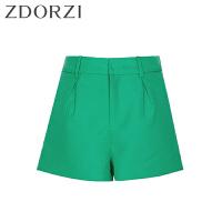 zdorzi卓多姿纯色百搭短裤显瘦微喇裤阔腿裤女632381