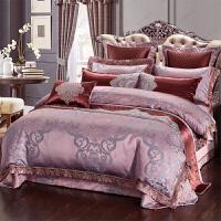 家纺床上用品四件套全棉双人床上被套1.8m粉色别墅样板房家纺