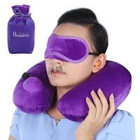 自动充气u型枕坐车长途飞机上睡觉旅行护颈枕头旅游神器便携轻