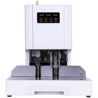 得力 14601 激光定位自动会计财务凭证装订机热熔胶铆管装订机电动档案文件打孔机(商用)