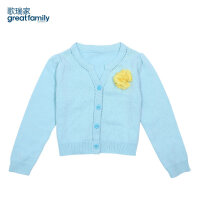 乐友 孕婴童歌瑞家儿童毛线衣春季新款女童女孩针织毛衣开衫打底衫