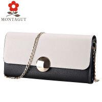 梦特娇Montagut女包 女士单肩包斜挎包 时尚牛皮女士手拿包小包R2312259511