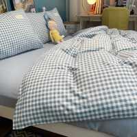 简约春秋四件套全棉纯棉床上用品床单三件套宿舍学生3被套水洗棉4