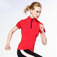 高尔夫球服装 女士T恤 短袖上衣 女款大小 夏季女款 红色