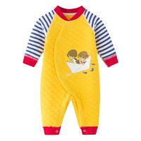 班杰威尔 婴儿连体衣秋冬季新生儿哈衣纯棉婴儿衣服男女宝宝0-3-6个爬服