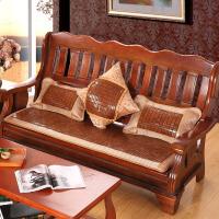 实木沙发垫坐垫四季通用夏季客厅加厚中式麻将沙发凉席垫 碳化麻将沙发垫